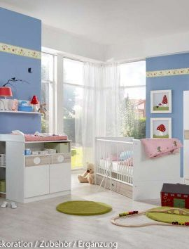 3-tlg-Babyzimmer-in-WeiEiche-sgerau-Nachbildung-Schrank-B-90-cm-Babybett-inkl-Lattenrost-70-x-140-cm-Wickelkommode-B-90-cm-0