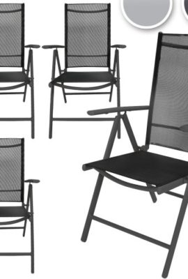 4-teiliges-komfortables-Alu-Stuhl-Set-Gartenstuhl-mit-verstellbarer-Rckenlehne-in-hellgrau-oder-dunkelgrau-0