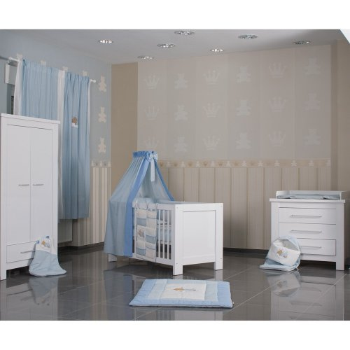 moebeldeal babyzimmer 4 tlg enni mit 2 t rigem kleiderschrankin in wei hochglanz. Black Bedroom Furniture Sets. Home Design Ideas