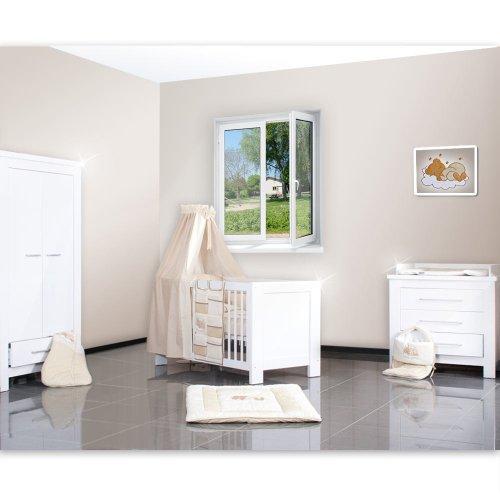 4-tlg-Babyzimmer-Enni-mit-2-trigem-Kleiderschrankin-in-wei-Hochglanz-0-2