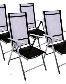 4er-Set-Klappstuhl-Aluminium-Gartenstuhl-Campingstuhl-Hochlehner-Stuhl-schwarz-0