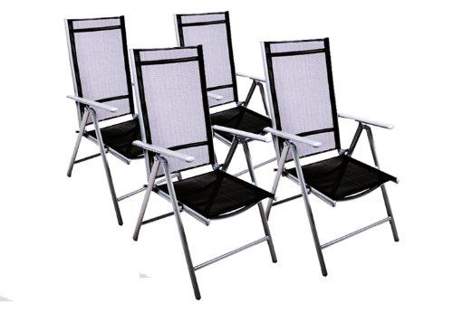 moebeldeal 4er set klappstuhl alu gartenstuhl. Black Bedroom Furniture Sets. Home Design Ideas