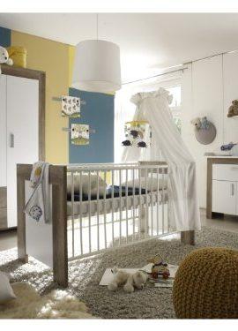 6tlg-Babyzimmer-Balu-Kinderzimmer-Schrank-Bett-Wickelkommode-Wildeiche-Trffel-0