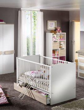 7tlg-Babyzimmer-Pixi-Kinderzimmer-Schrank-Bett-Wickelkommode-Spielzeugkiste-uvm-0