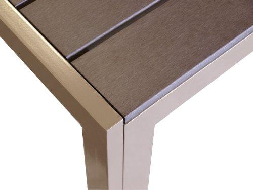 Aluminium-Gartentisch-Esszimmertisch-Esstisch-Kchentisch-mit-Polywood-Non-Wood-Tischplatte-205x90cm-Champagner-0-0