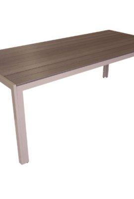 Aluminium-Gartentisch-Esszimmertisch-Esstisch-Kchentisch-mit-Polywood-Non-Wood-Tischplatte-205x90cm-Champagner-0