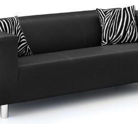 B-famous-3-Sitzer-Sofa-Cube-183-x-85-cm-PU-schwarz-0
