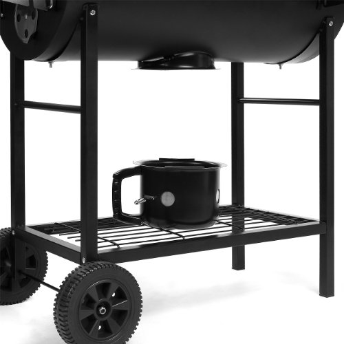 moebeldeal bbq02 grill holzkohle smoker grillwagen standgrill xxl barbecue inkl warmhalterost. Black Bedroom Furniture Sets. Home Design Ideas