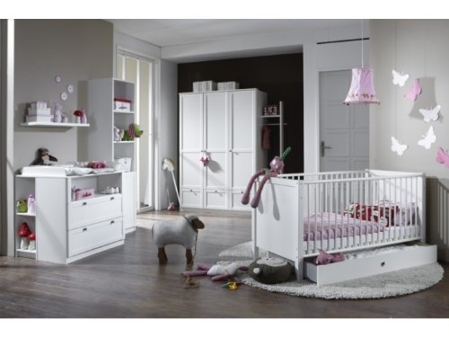 moebeldeal babyzimmer kinderzimmer schrank wickelkommode bett filou 8 teilig. Black Bedroom Furniture Sets. Home Design Ideas