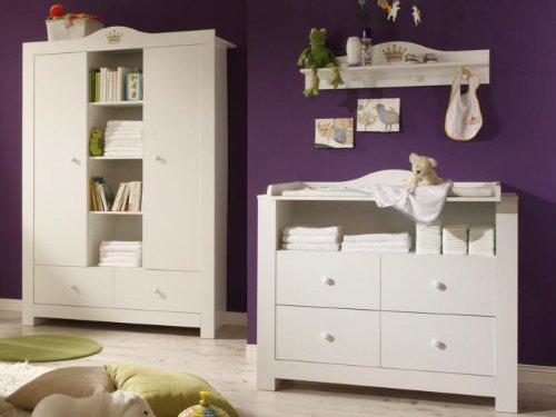 Babyzimmer-Luca-2-WeissWeiss-mit-goldener-Krone-6-tlg-0-0