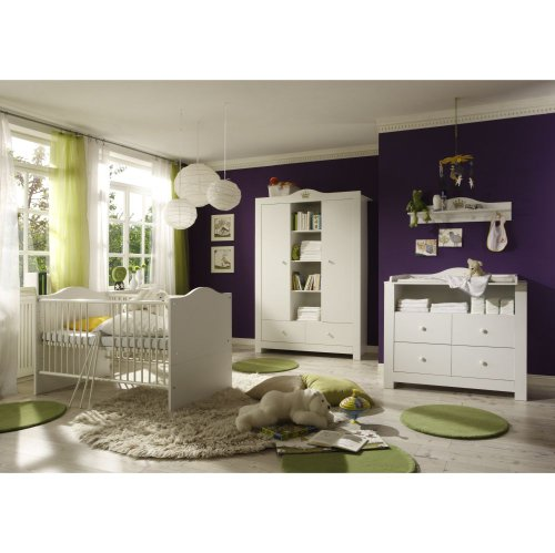 Babyzimmer-Luca-2-WeissWeiss-mit-goldener-Krone-6-tlg-0