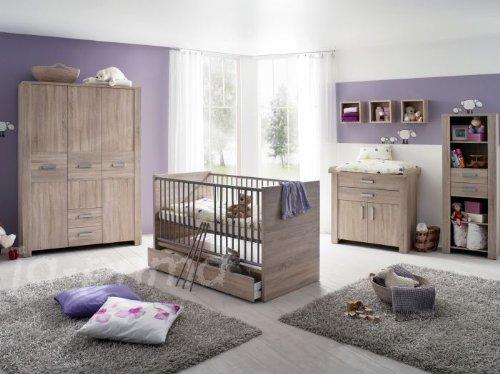 Babyzimmer-Olek-4-teilig-Babybett-Wickelkommode-0