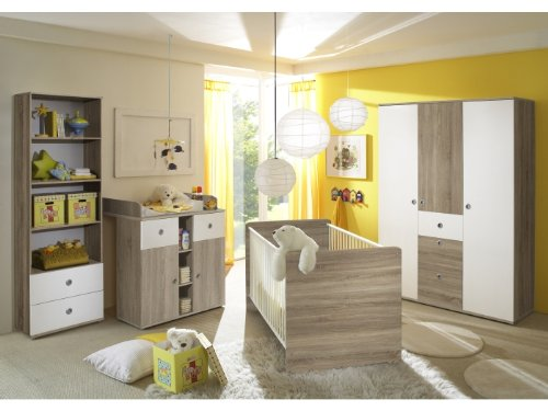 moebeldeal babyzimmer wiki eiche sonoma wei. Black Bedroom Furniture Sets. Home Design Ideas