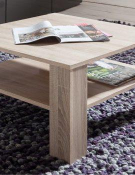 Couchtisch-Tisch-Wohnzimmertisch-quadratisch-mit-Ablage-25-67x67x44-cm-Sonoma-Eiche-hell-idealer-Tisch-fr-jedes-Wohnzimmer-0