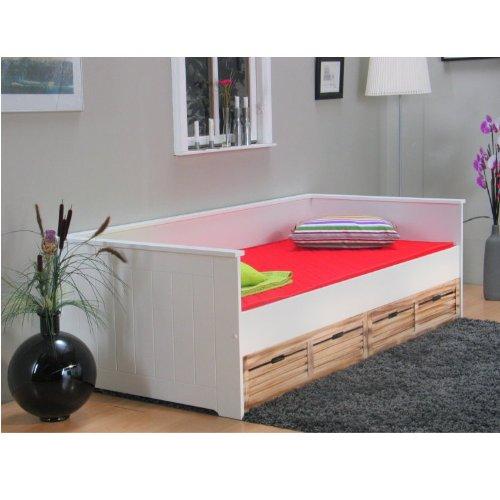 moebeldeal einzelbett paulina 90 x 200 bettgestell. Black Bedroom Furniture Sets. Home Design Ideas