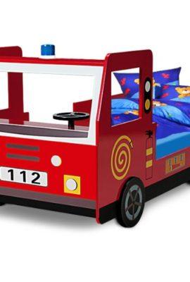 Feuerwehrbett-inkl-Lattenrost-Autobett-Kinderbett-Jugendbett-Bett-0