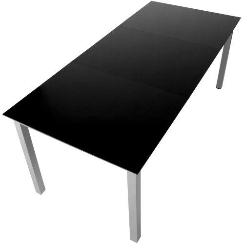Moebeldeal gartentisch glastisch aluminium hellgrau schwarz for Glastisch schwarz