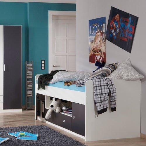 moebeldeal jugendzimmer 3 tlg absetzungen in anthrazit. Black Bedroom Furniture Sets. Home Design Ideas