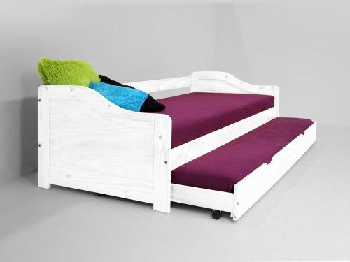 Moebeldeal kmh ausziehbett aus massivem pinienholz for Jugendzimmer ausziehbett