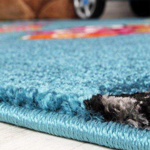 Kinder-Teppich-Niedliche-Eulen-Trkis-Blau-Orange-Grn-Pink-Grsse120x170-cm-0-2