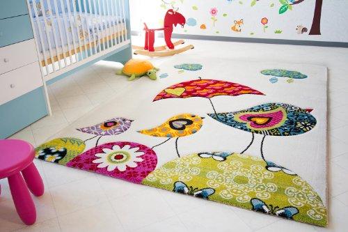 Kinder-Teppich-Vogel-Theo-Little-Carpet-Kinderteppich-beige-ko-Tex-zertifiziert-Gre-120x170-cm-0