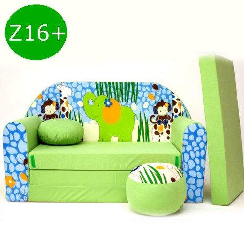 Kindersofa-Ausklappbar-Schlafsofa-Couch-Sofa-Minicouch-3-in-1-Baby-Set--Kindersessel-und-Sitzkissen--Matratze-Z16-0