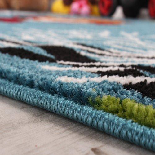 Kinderteppich-Klaunfisch-Aqua-Kinderzimmer-Teppich-Design-Trkis-Grn-Creme-Pink-Grsse120x170-cm-0-0