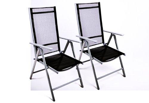 moebeldeal klappstuhl 2er set alu gartenstuhl. Black Bedroom Furniture Sets. Home Design Ideas