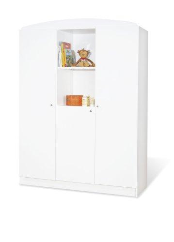 moebeldeal pinolino kleiderschrank jil gro moderner 3 t riger kleiderschrank mit 2 offenen. Black Bedroom Furniture Sets. Home Design Ideas