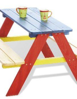 Pinolino-201616-Kindersitzgruppe-Nicki-fr-4-bunt-2-Bnke-mit-1-Tisch-0