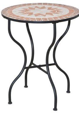 Siena-Garden-660007-Tisch-Finca-Gestell-schwarz-Tischplatte-in-Mosaik-Optik--70-x-H-71-cm-0