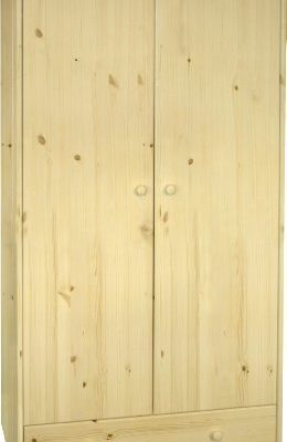 Steens-29010019-Kleiderschrank-SFK-180-x-95-x-58-cm-Kiefer-massive-natur-lackiert-0