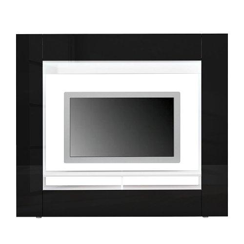 moebeldeal tv medienwand schwarz hochglanz. Black Bedroom Furniture Sets. Home Design Ideas