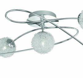 Trio-613210506-Deckenleuchte-ink5x28W-G9-D70cm-Chrom-Kugel-Aluminiumgeflecht-D10cm-0