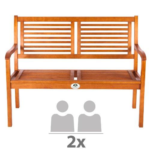 Ultranatura-Gartenbank-2-Sitzer-Canberra-Serie-Edles-Hochwertiges-Eukalyptusholz-FSC-zertifiziert-118-cm-x-62-cm-x-14-cm-0-1