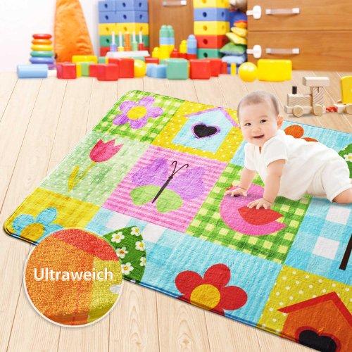 Ultraweicher-Kinderspielteppich-aus-Mikrofasern-rutschfest-Motiv-Sweetie-130-x-190-cm-0