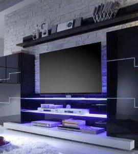 moebeldeal easyfurn medienwand olli. Black Bedroom Furniture Sets. Home Design Ideas