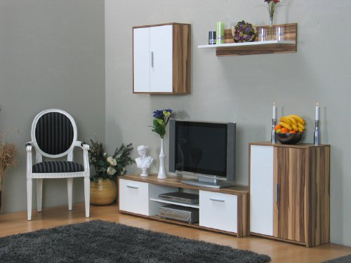 moebeldeal wohnwand kompas walnuss. Black Bedroom Furniture Sets. Home Design Ideas