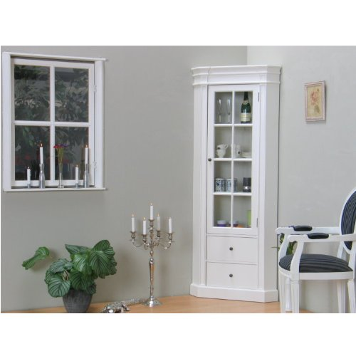 moebeldeal amaretta glas eck vitrine. Black Bedroom Furniture Sets. Home Design Ideas