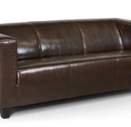 B-famous-3-Sitzer-Sofa-Kuba-186-x-88-cm-Glanzleder-braun-0