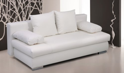 B-famous-Schlafsofa-Chicago-PUR-Kunstleder-weiss-200x95-cm-0-0
