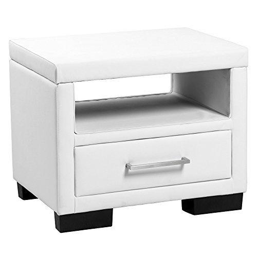 moebeldeal corium polster nachttisch mit schublade. Black Bedroom Furniture Sets. Home Design Ideas