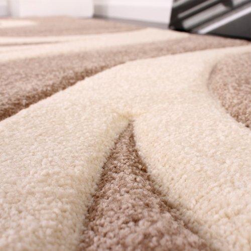 Designer-Teppich-mit-Konturenschnitt-Modern-Beige-Creme-Grsse160x230-cm-0-1