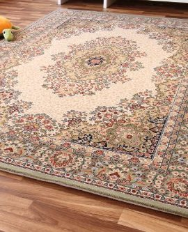 Dubai-Kirman-Orientteppich-grn-beige-Webteppich-zeitloser-Luxus-0