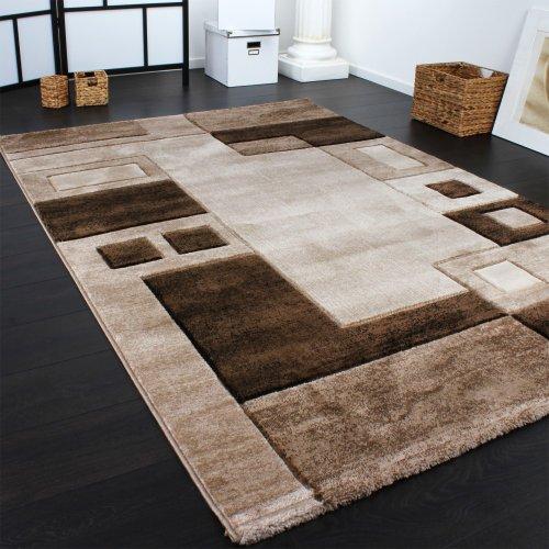 moebeldeal edler designer teppich konturenschnitt kariert. Black Bedroom Furniture Sets. Home Design Ideas