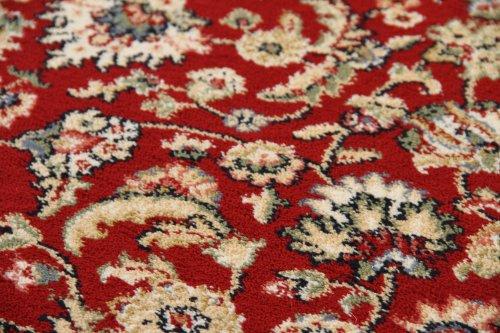 Elisabeth-Sarough-Medaillon-Orientteppich-beige-rot-gemustert-Webteppich-0-0
