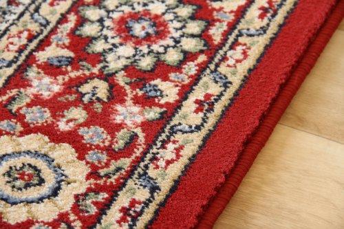 Elisabeth-Sarough-Medaillon-Orientteppich-beige-rot-gemustert-Webteppich-0-1