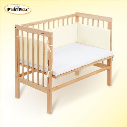 FabiMax-Beistellbett-Babymax-basic-natur-inkl-Matratze-PROTECT-und-Nest-Amelie-creme-0