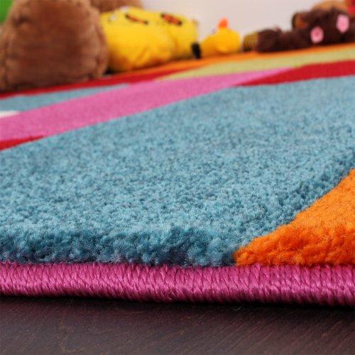 Kinder-Teppich-Karo-Design-Multicolour-Grn-Rot-Grau-Schwarz-Creme-Pink-Grsse120x170-cm-0-0