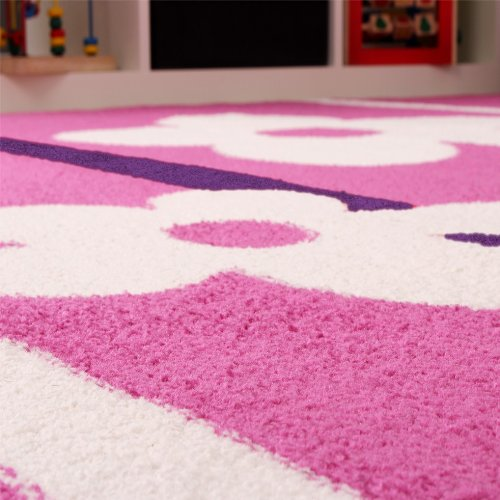 Kinderteppich-Blumen-Muster-Pink-Lila-Weiss-Grsse160x220-cm-0-0